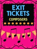 Music Exit Tickets on Composers w/ Answer Key for Formative Assessment