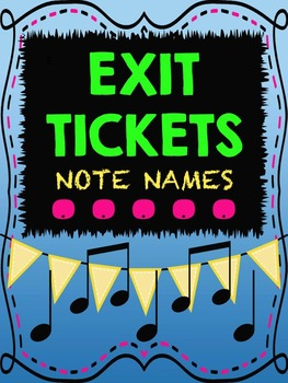 Music Exit Tickets on Note Names for Formative Assessment w/ Answer Key