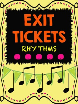 Music Exit Tickets on Rhythms for Formative Assessment