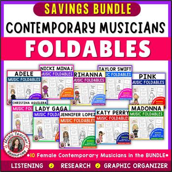 Music: Female Singers: Ten Contemporary Female Musicians Foldables BUNDLE