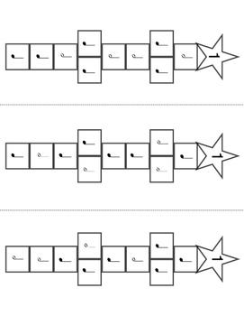 Music Finger Rhythm Hopscotch Quarter Notes & Half Notes