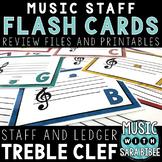 Music Flash Cards- Treble Clef- Digital With Printout Option