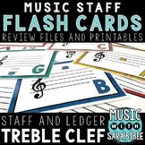 Music Flash Cards - Treble Clef - Digital Review Files and Printables