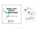 Music Flashcards - Bass Clef - Simple & Modern