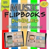 Music Flipbooks BUNDLED (Treble Clef Note Names and Lines and Spaces Review)