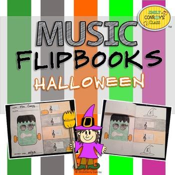Halloween Music Activities (Music Flipbooks)