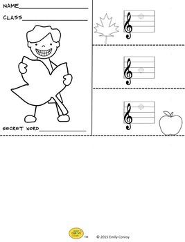 Fall Music Activities (Music Flipbooks)