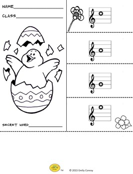 Spring/Easter Music Activities (Music Flipbooks)
