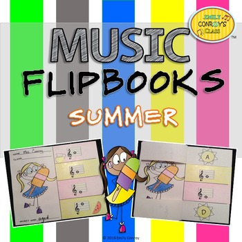 Summer Music Activities (Music Flipbooks)