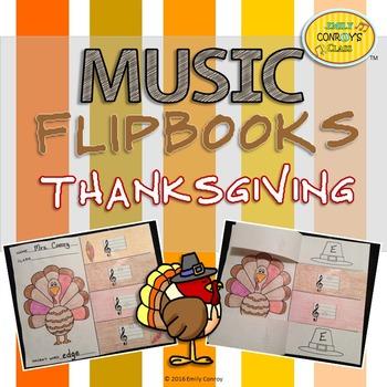 Thanksgiving Music Activities (Music Flipbooks)