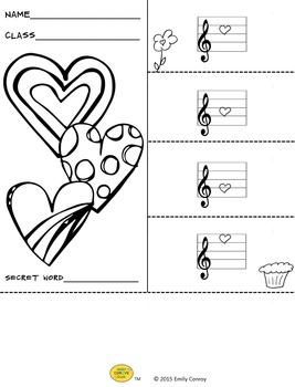 Valentine's Day Music Activities (Music Flipbooks)