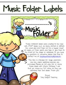 Music Folder Labels