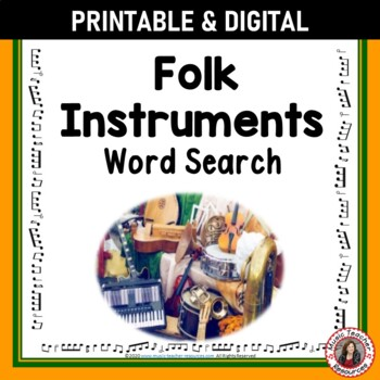 Music Word Search: Musical Instruments: World Instruments Music Game