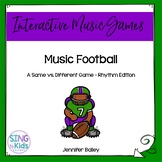 Interactive Rhythm Pattern Game: Music Football {4/4 Edition}