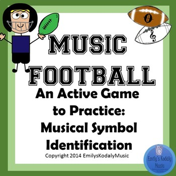 Music Football Musical Symbols By Emilys Kodaly Music Tpt