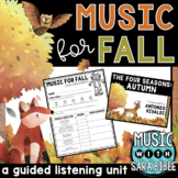 Music For Fall - Mini Guided Listening Unit {Presentation