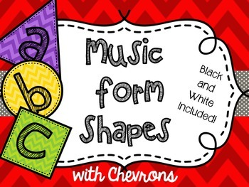 Music Form Shapes with Chevrons