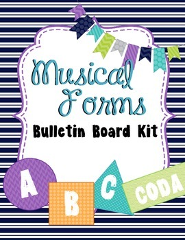 Music Forms Bulletin Board Kit - Woodland Critters Theme