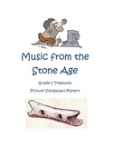 Music From the Stone Age Picture Vocabulary Posters for Grade 2 Treasures