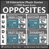 Music Opposites Interactive Music Games Bundle {raccoon}