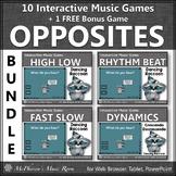 Music Opposites Interactive Music Games Bundle + BONUS Game {raccoon}