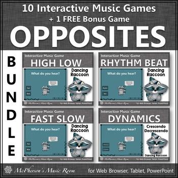Music Fun - Interactive Opposites Bundle (raccoon)