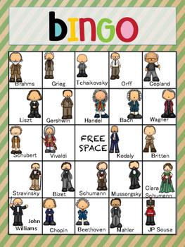 Music Game Bingo- Composer Version
