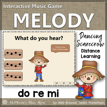 Music Game: Do Re Mi Interactive Melody Game {Dancing Scarecrow}