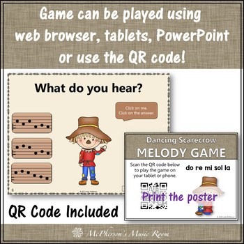 Music Game: Do Re Mi Sol La Pentatonic Interactive Melody Game Dancing Scarecrow