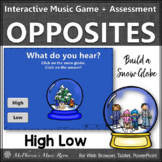 Music Game   High Low Interactive Music Opposite & Assessment Build a Snow Globe
