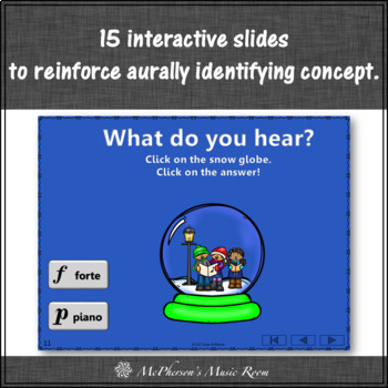 Music Game: Dynamics Forte & Piano + Assessment {Interactive Build a Snow Globe}