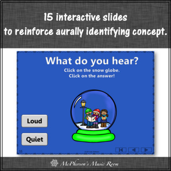 Music Game: Loud Quiet Interactive Dynamics Game & Assessment Build a Snow Globe