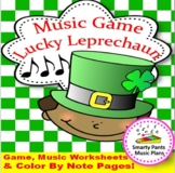 Music Game {Lucky Leprechaun comes with fun music worksheets}