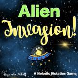 Music Game Set: Alien Invasion Melodic Dictation Game for Google Slides