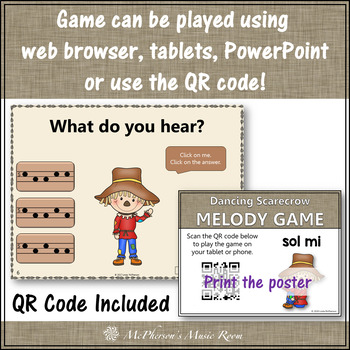 Music Game: Sol Mi Interactive Melody Game {Dancing Scarecrow}