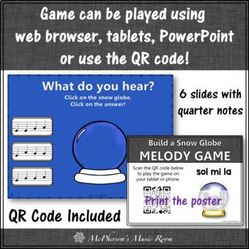 Music Game: Sol Mi La Interactive Melody Game & Assessment {Build a Snow Globe}