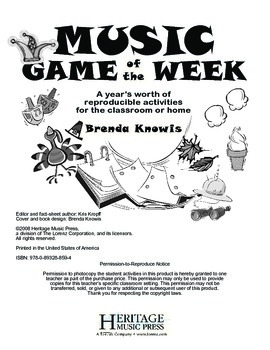 Music Game of the Week: September - October