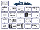 Music Game: Review Rhythm Instruments Composers Note Value