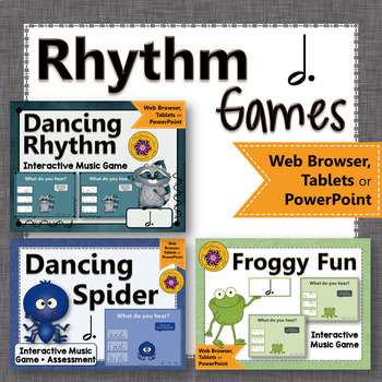 Music Games: Dotted Half Note Interactive Rhythm Games and Assessment {Bundle}