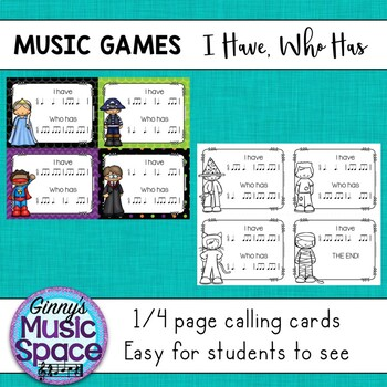 Music Games - I Have Who Has {Six Eight 1}
