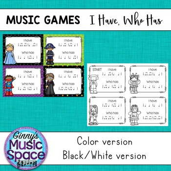 Music Games - I Have Who Has {Ta TiTi}