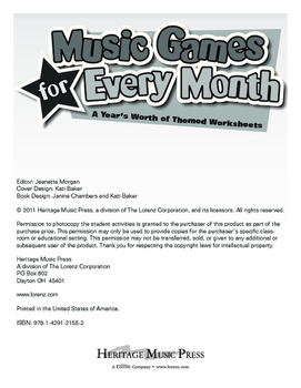 Music Games for Every Month - April