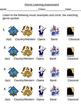 Music Genre Listening Assessment