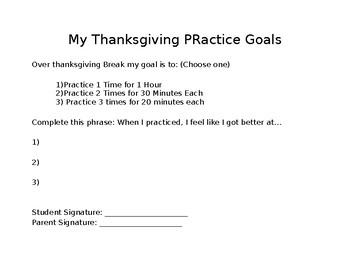 Thanksgiving Practice Sheet