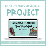 Music Genre Research Project for Google Slides™ | Distance