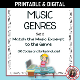 Music Genres Listening Worksheets with QR codes - for Midd