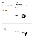 Music Genre Worksheet