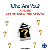 """Music Get-to-Know-You """"All About Me"""" Activity"""