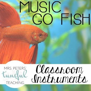 Music Go Fish - Classroom Instruments