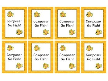Music Go Fish/matching - Composers